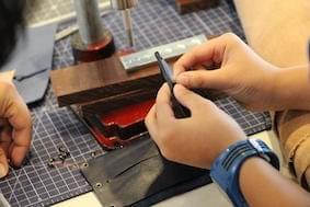leather workshop, junior makers, makers program