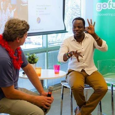 Francis Phiri signs to GoFundMe CEO