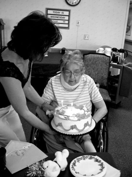 Grandmother Birthday at Rehabilitation Center (c) Dena Michele Rosko