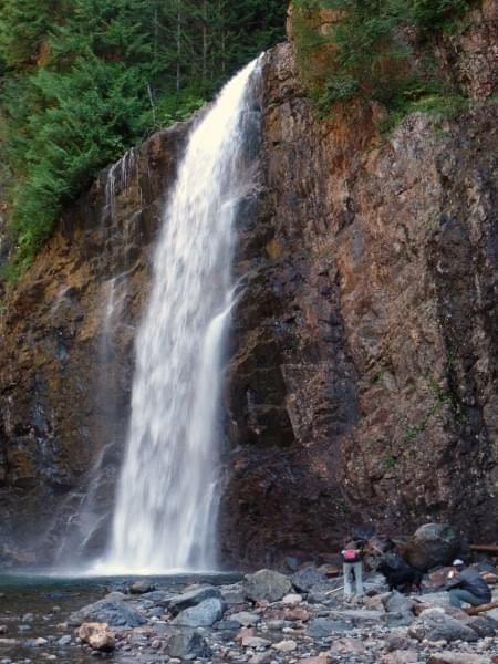 Franklin Falls, Cascade Range, Wash., Photo (c) James Rosko