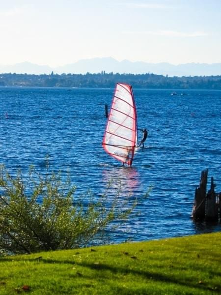 Wind Boarder at Gene Coulon Memorial Beach Park, Renton, Wash.