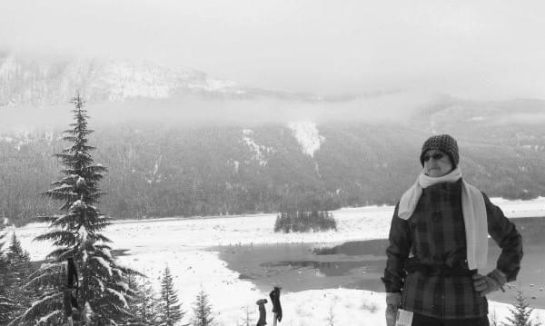 Snowshoeing at Keechelus Lake, Snoqualmie West Summit, Snoqualmie Pass, Cascade Range, Wash.