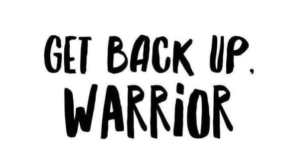 """Get back up Warrior"" meme"