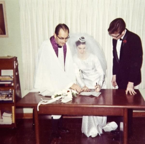 My parents signing their wedding certificate 1968