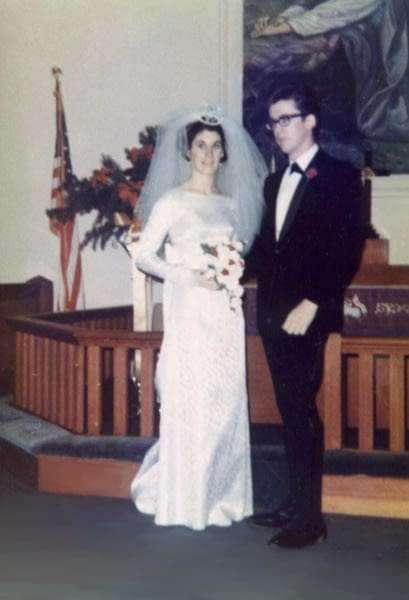 My parents' wedding day in 1968