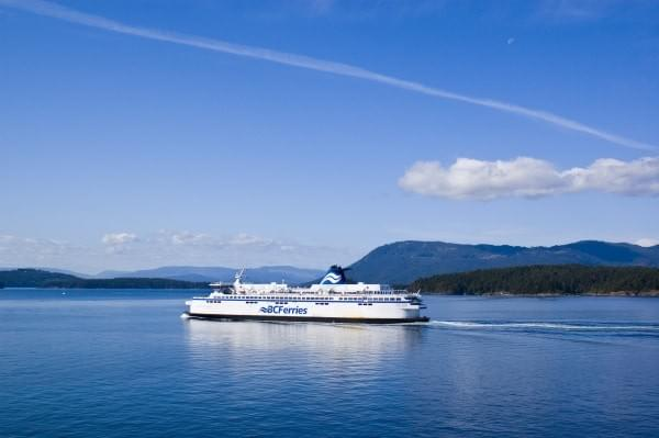 BC Ferries at the Strait of Georgia, BC, Canada