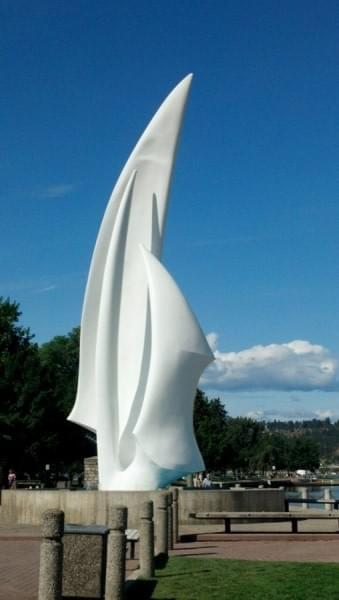Sculpture at park, Kelowna, BC, Canada