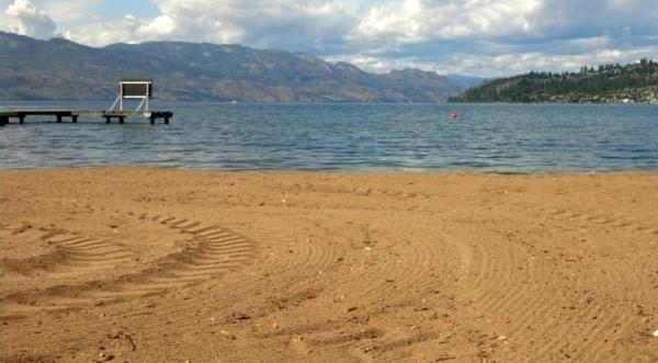Beach at Kelowna, BC, Canada