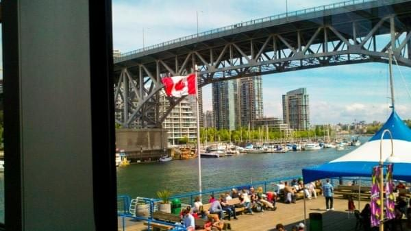 Canadian flag at Granville Island, Vancouver, BC