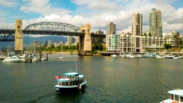 Aquabus ferry at False Creek, Vancouver, BC