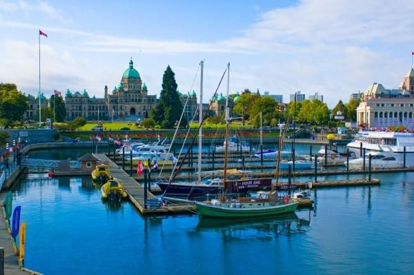 Parliament Building + Harbour at Victoria BC