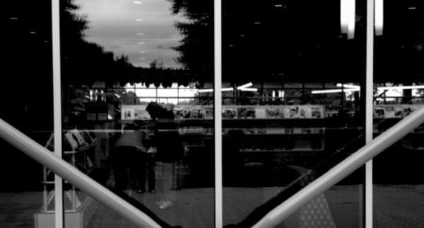 Windows at the KCLS Renton Library at Cedar River, Renton, Wash.