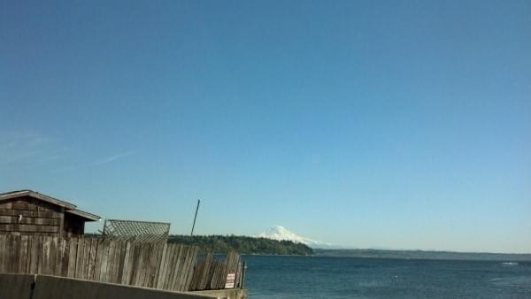 Mt. Rainier via beach at Burien, WA