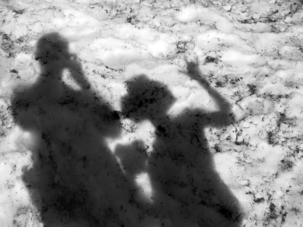 Shadow on snow pack at Hurricane Ridge, Wash.