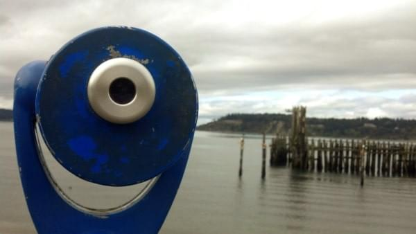 Viewer at Titlow Beach, Tacoma, Wash.