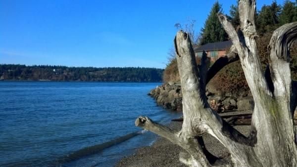 Titlow Beach in January 2015, Tacoma, Wash.