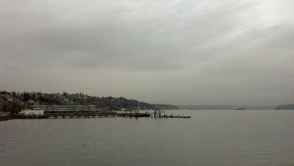 Puget Sound via Jack Hyde Park in December, Tacoma, Wash.