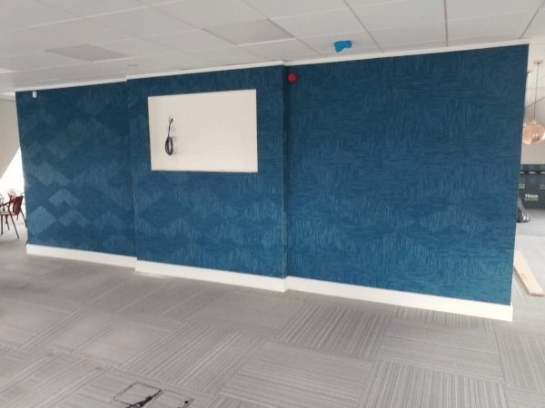 Complete flooring fitout - carpet tiles and feature wall at Deloitte Tax Consultants; Charlottes Quay Limerick. Flooring by LRK Flooring.