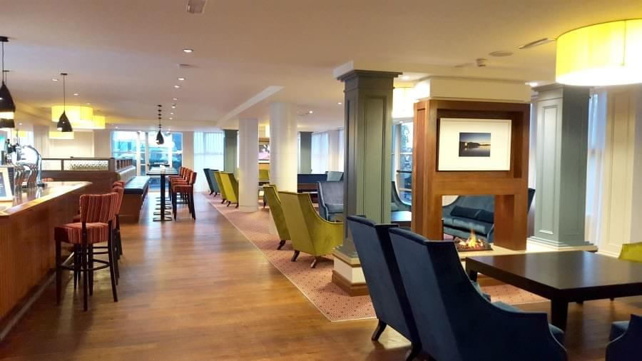 New flooring in Lobby and Bar at Radisson Blu Cork. Flooring by LRK Flooring.