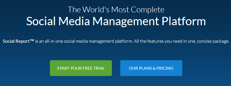 SocialReport - social media management platform