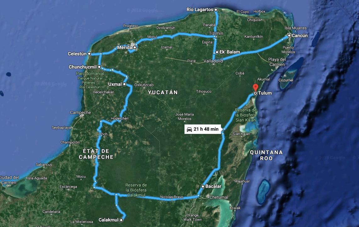 roadtrip yucatan
