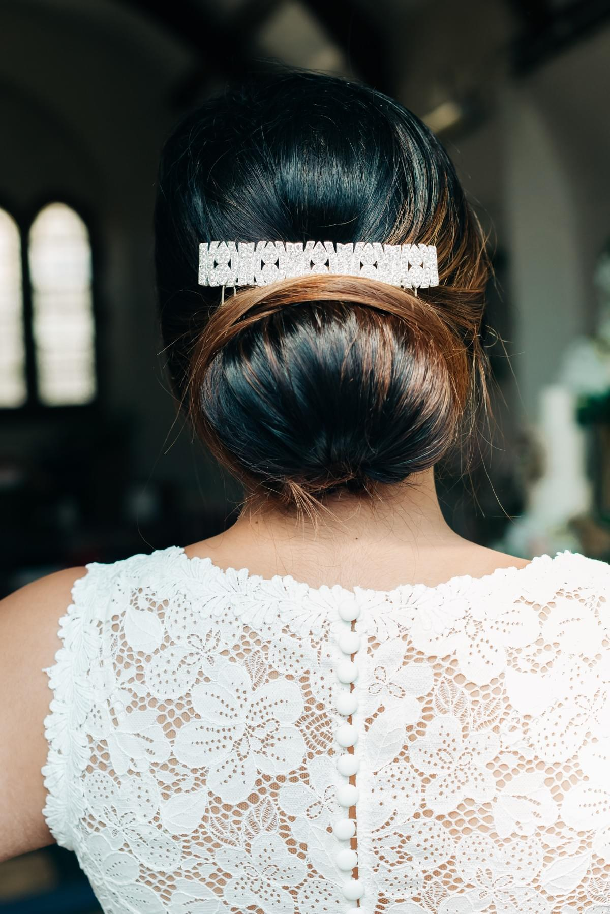 Isle of Man wedding - bridal hair