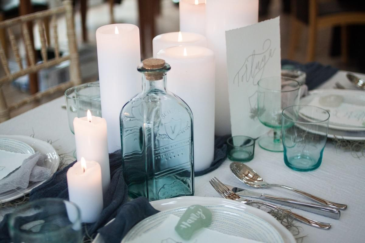 Sea Glass Centrepiece