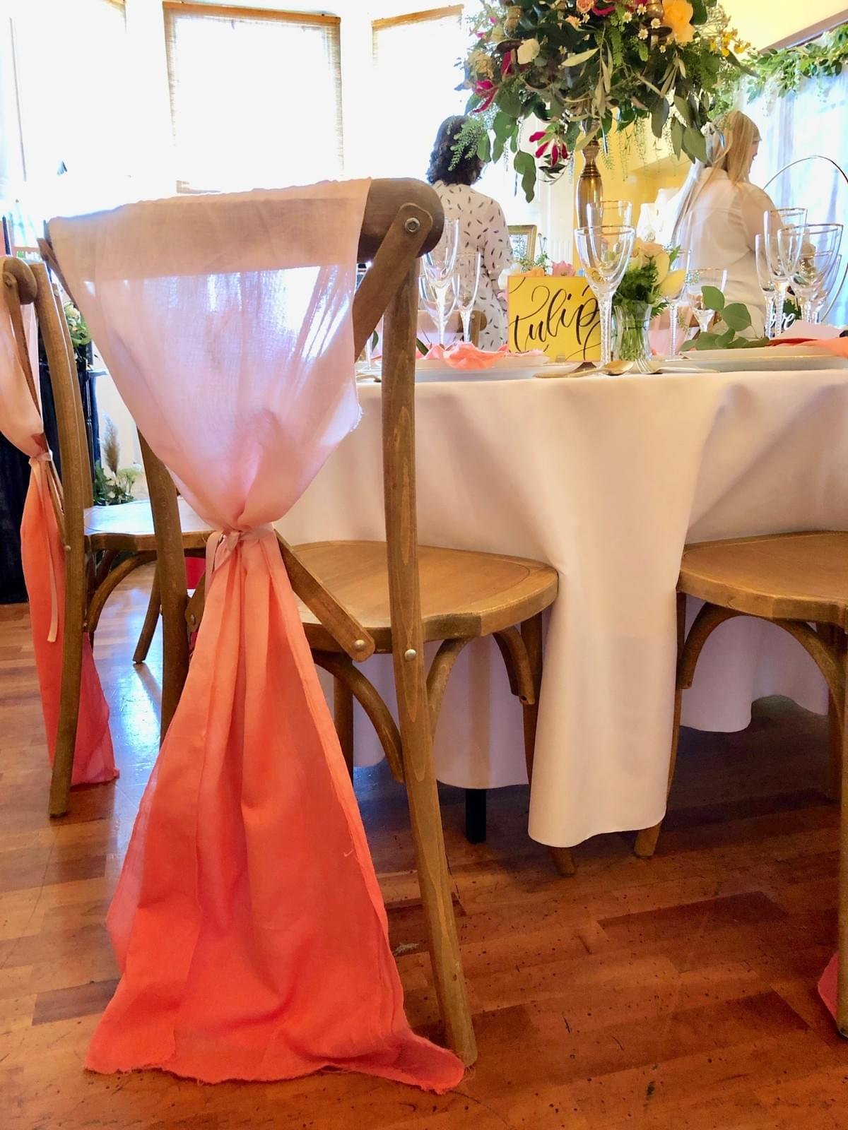 coral ombre chair fabric, crossback chairs