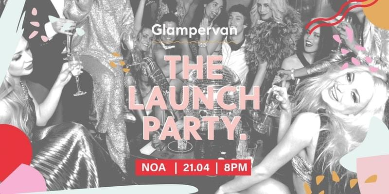 Glampervan launch party poster