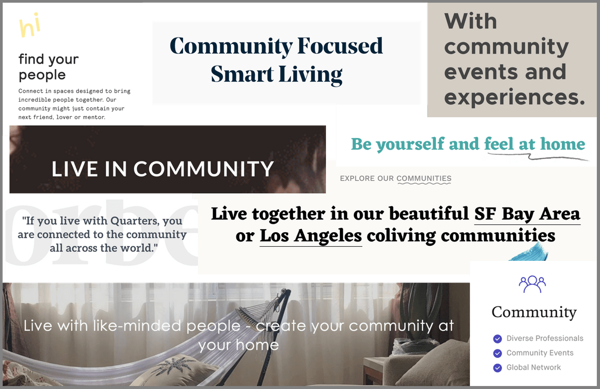 Coliving spaces promise community