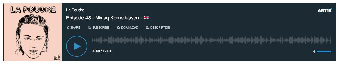 La Poudre podcast - episode 43 with Niviaq Korneliussen