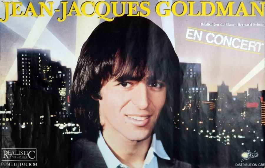 affiche jean-jacques goldman ticket billet place de concert lille tournée positif tour 1984