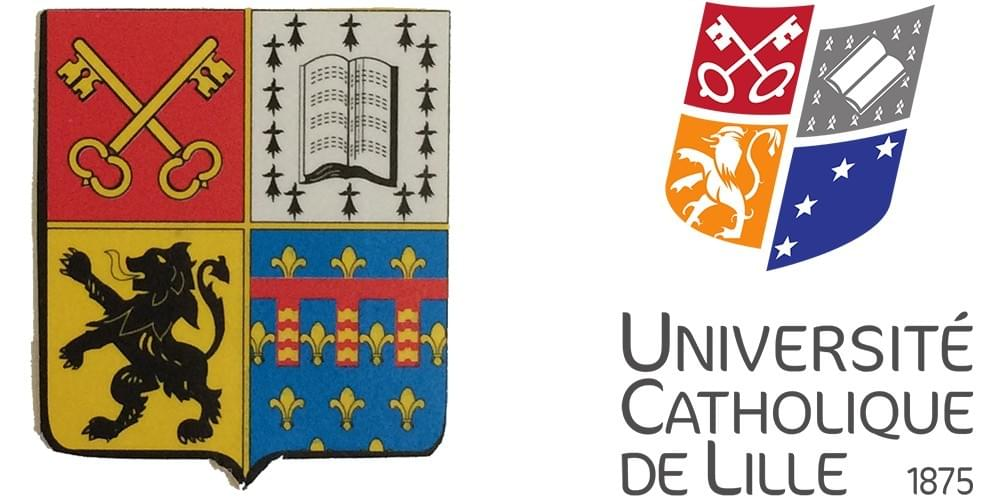 blason armoiries de la catho à lille, université catholique