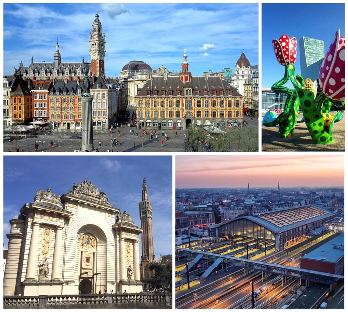 lille dates de construction des monuments de la ville grand place euralille porte de paris gare lille flandres