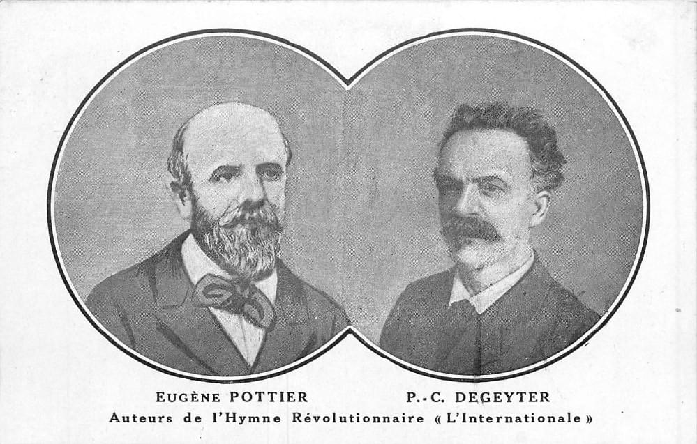 lille hymne l'internationale musique de pierre degeyter et paroles d'eugene pottier