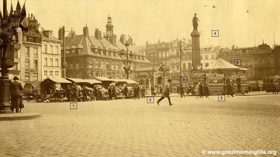 lille grand place 1933 photo collection capin
