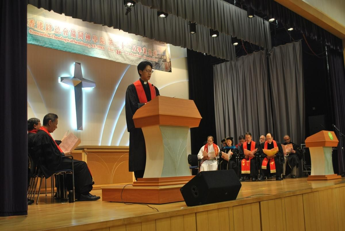 Rev. Kenneth LAM Leading Singing