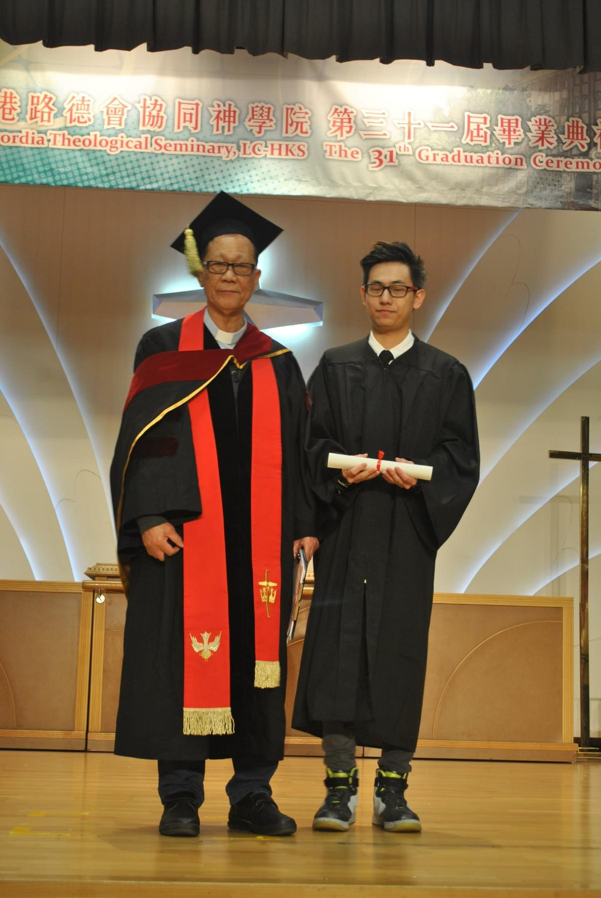 Rev. Dr. Stephen IP,CTS President, and Mr. YEUNG Chi Ming [Associate in Christian Ministry]