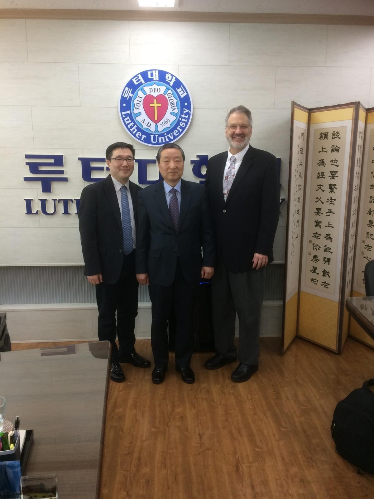 Prof. Rev. Dr. Jun Hyun KIM (left), Rev. Dr. Deuk Chil KWON (middle), Rev. Dr. Hans TRINKLEIN (right)