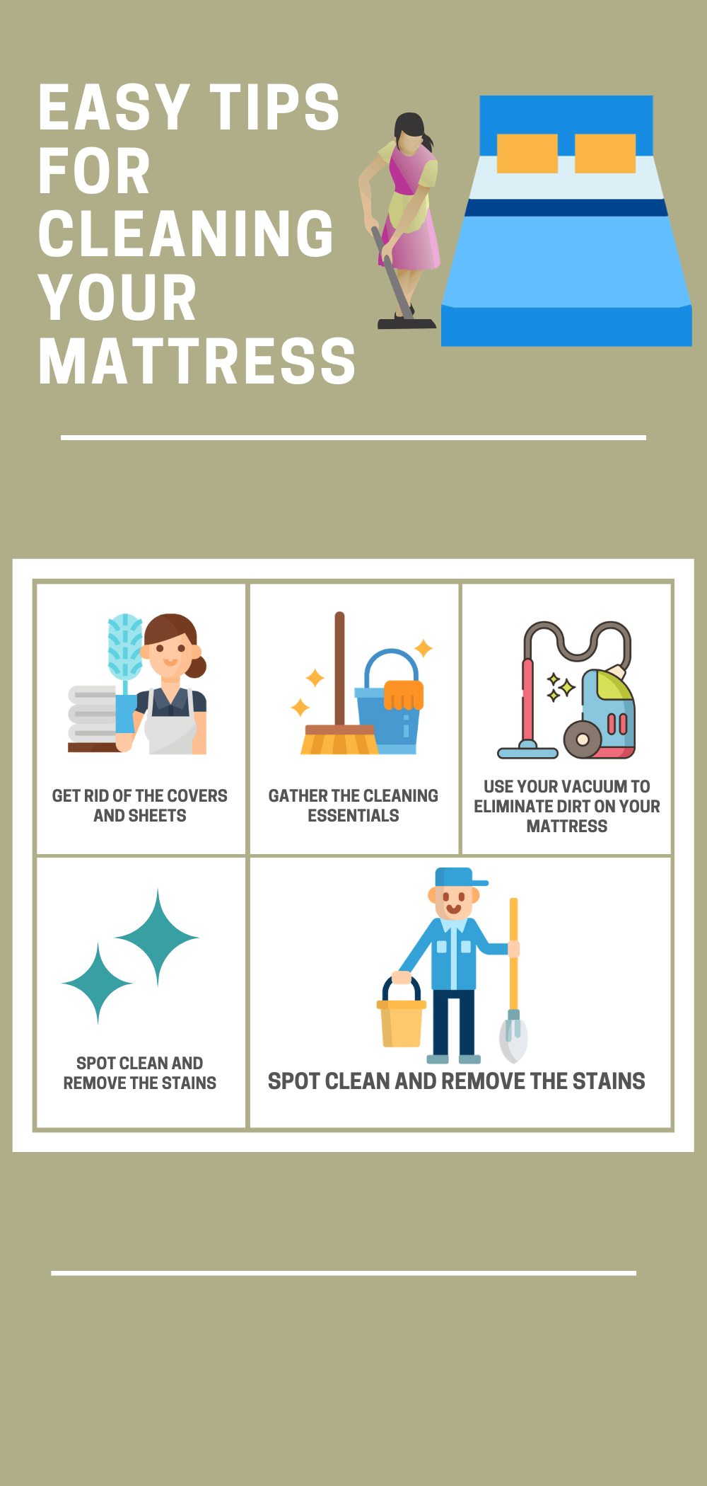 Easy Tips For Cleaning Your Mattress Cleaning Services