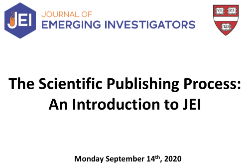 Publishing research as a high school student JEI Horizon Academic