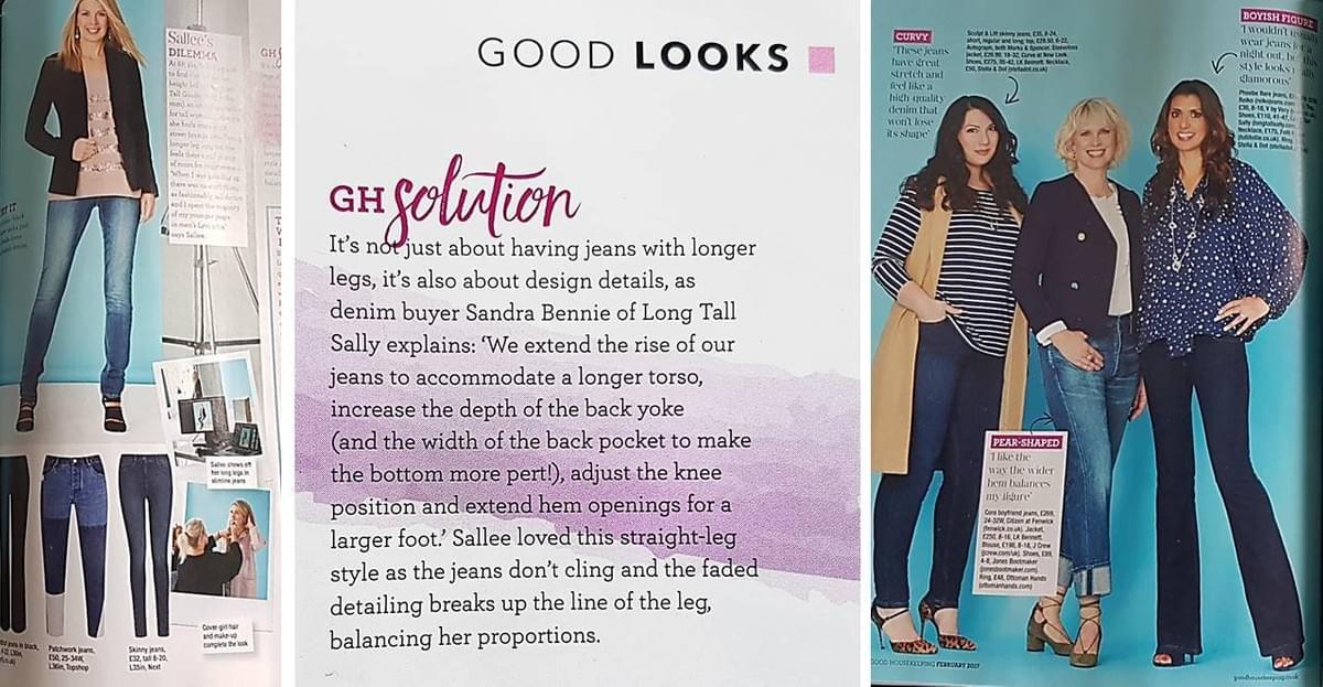Sallee Poinsette-Nash, Good Housekeeping Magazine, Tall fashion, tall model, tall models