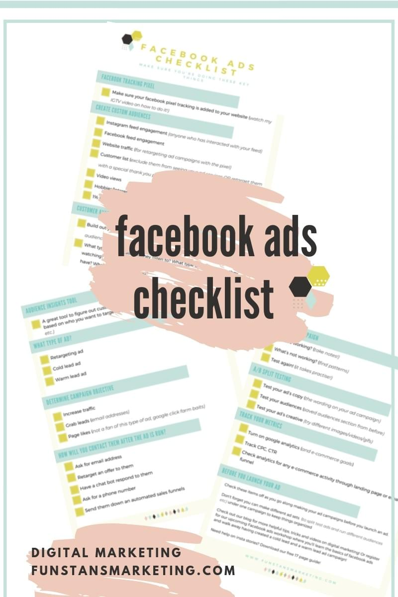 facebook ads checklist before you launch a facebook or instagram ad in ads manager