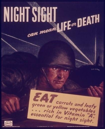 eat carrots affiche seconde guerre mondiale
