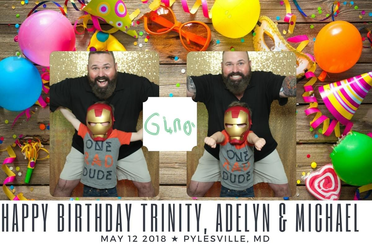 Father and son birthday photo booth props