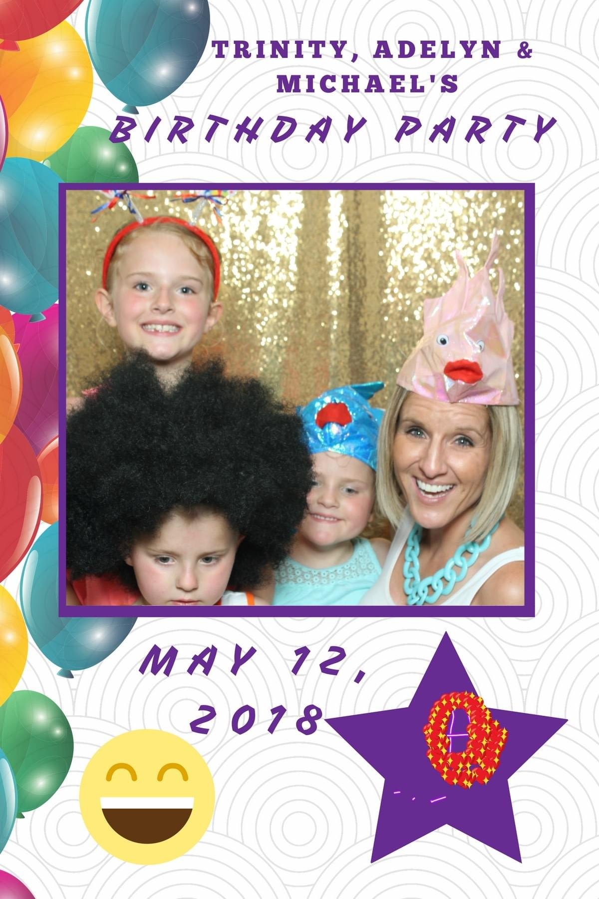 The Magic Selfie Mirror bringing the fun to a kids birthday party