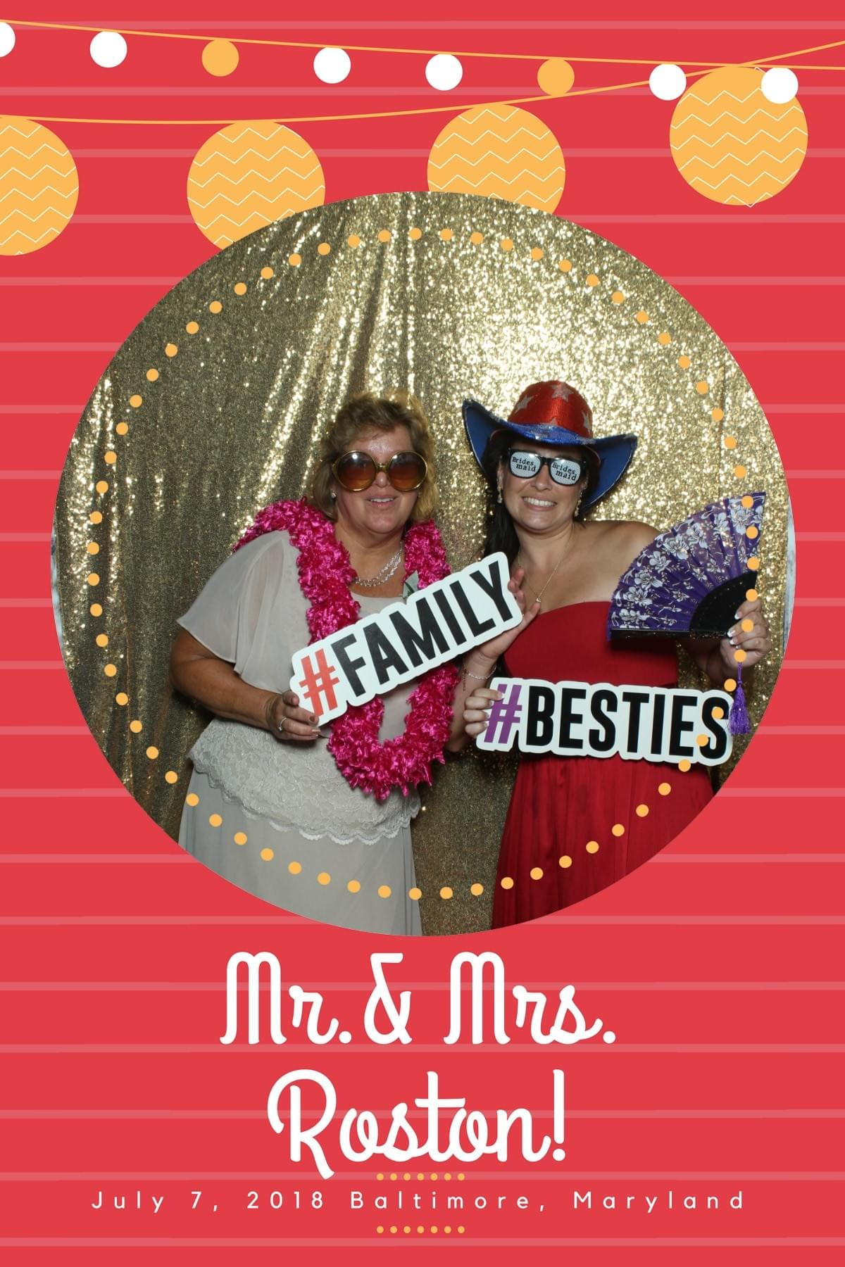 Unique photo booth overlays and props for Baltimore weddings