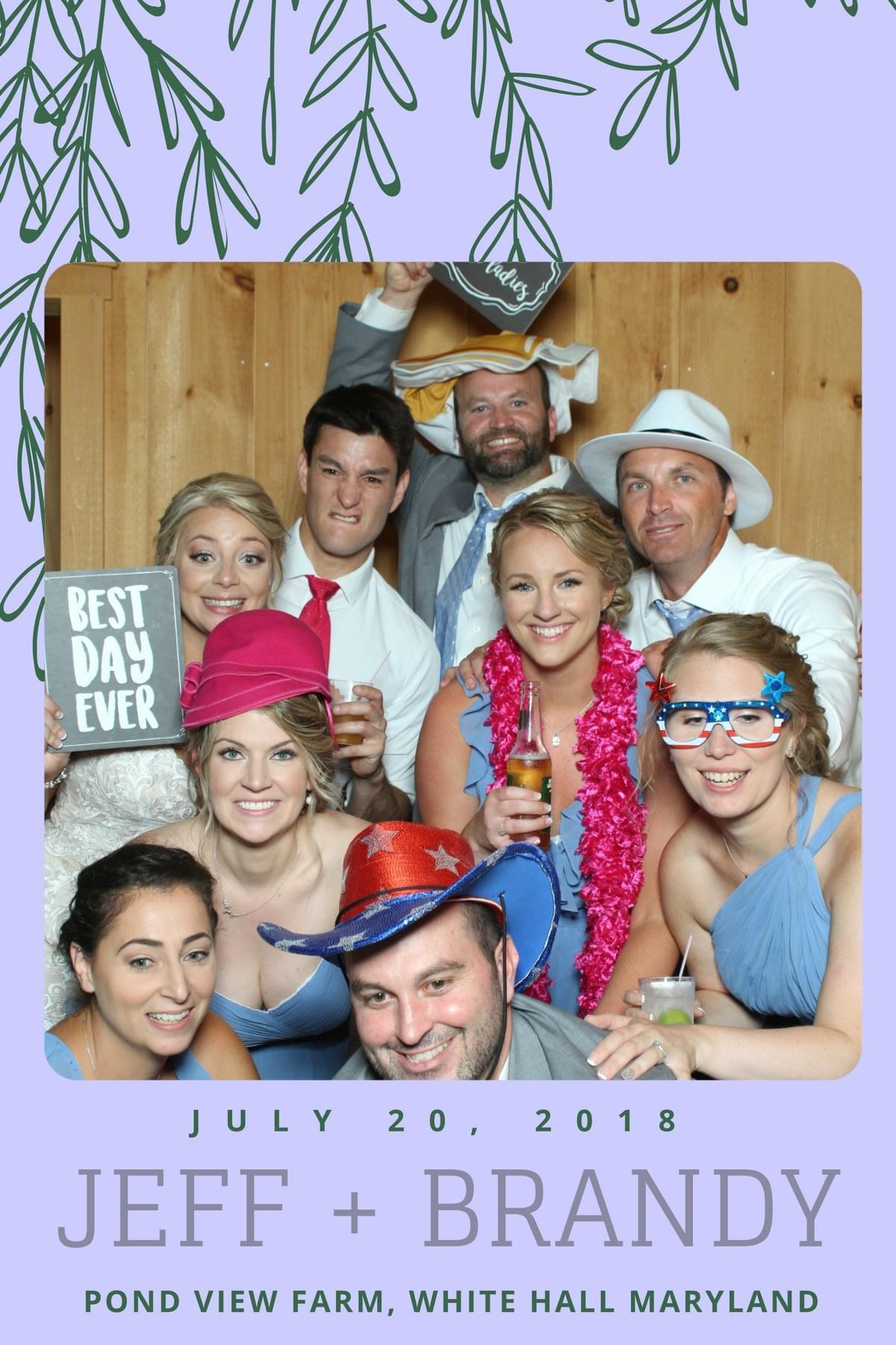 Wedding photo booth fun with the Magic Selfie Mirrror