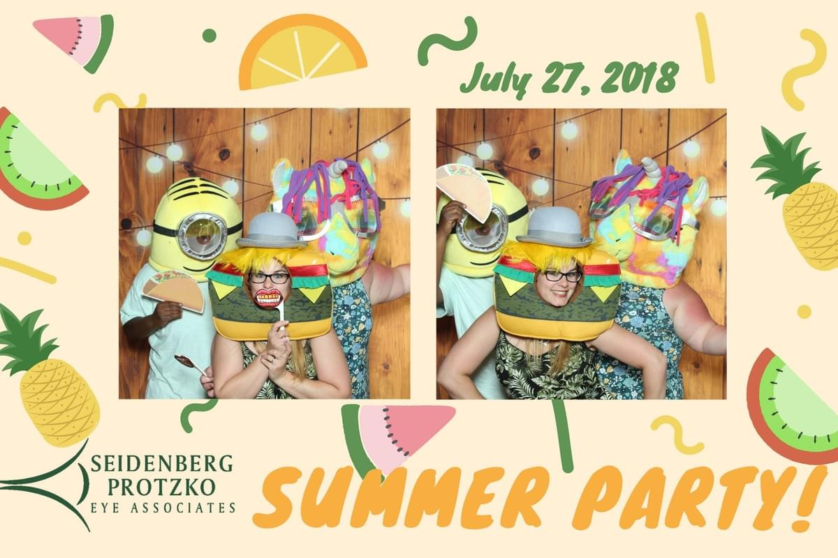 Seidenberg Protzko Eye Associates summer party with the Magic Selfie Mirror