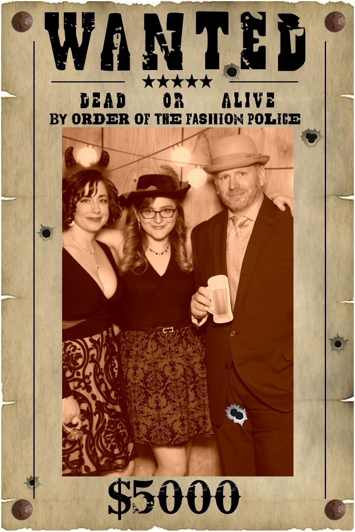 Photo Booth Wanted Poster